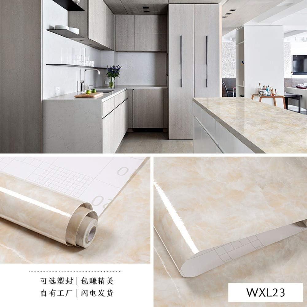 lsaiyy Imitación de mármol Adhesivos a Prueba de Agua Papel Pintado Autoadhesivo Papel de Cocina a Prueba de Aceite Papel Tapiz - 60CMX5M: Amazon.es: Hogar