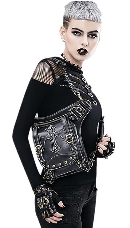 De Europa Bolsillos Diseño Y Zhe Para Negro Con Wei Mujer América YZ406wq