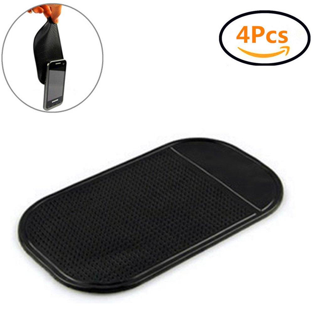 Amazon.fr   Tapis Anti-dérapant Voiture en Silicone sur Tableau de Bord  pour Téléphone Portable GPS pour Auto Voiture Noir par kati-way(4pcs) fd4b8a6219f