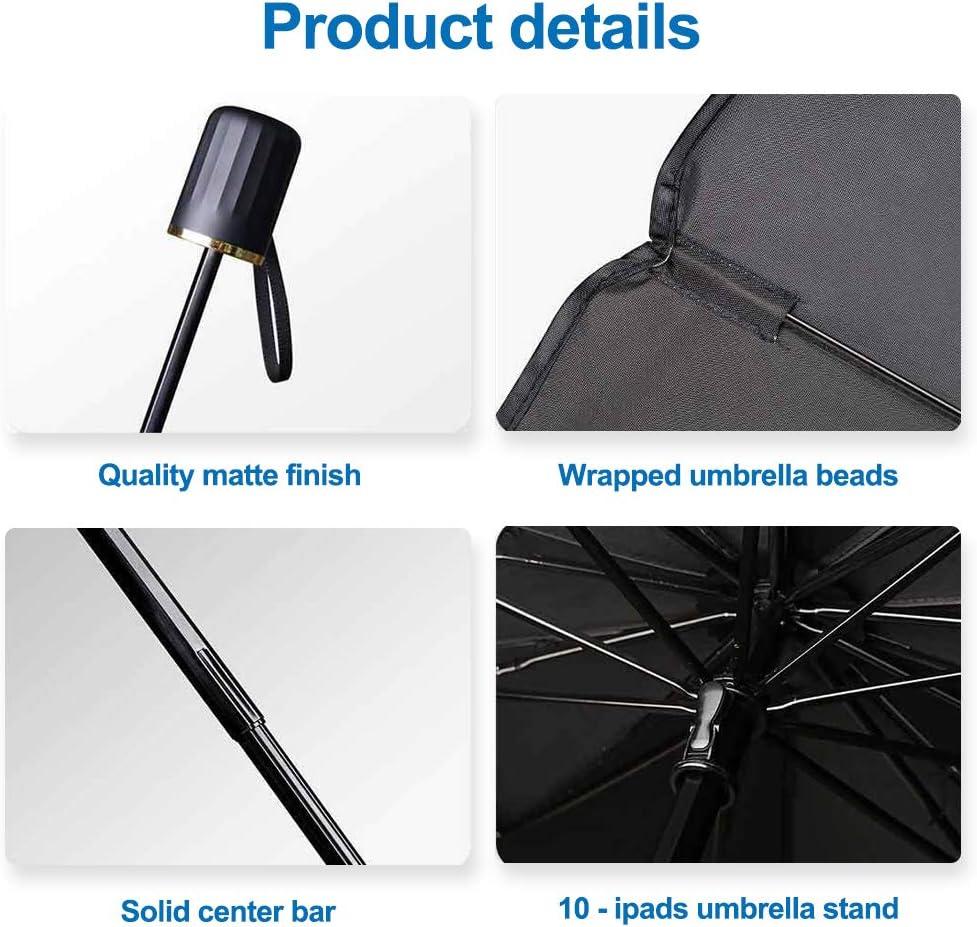 protecci/ón contra rayos UV y calor Bestine Parasol plegable para ventana frontal de coche parasol para ventana frontal parasol