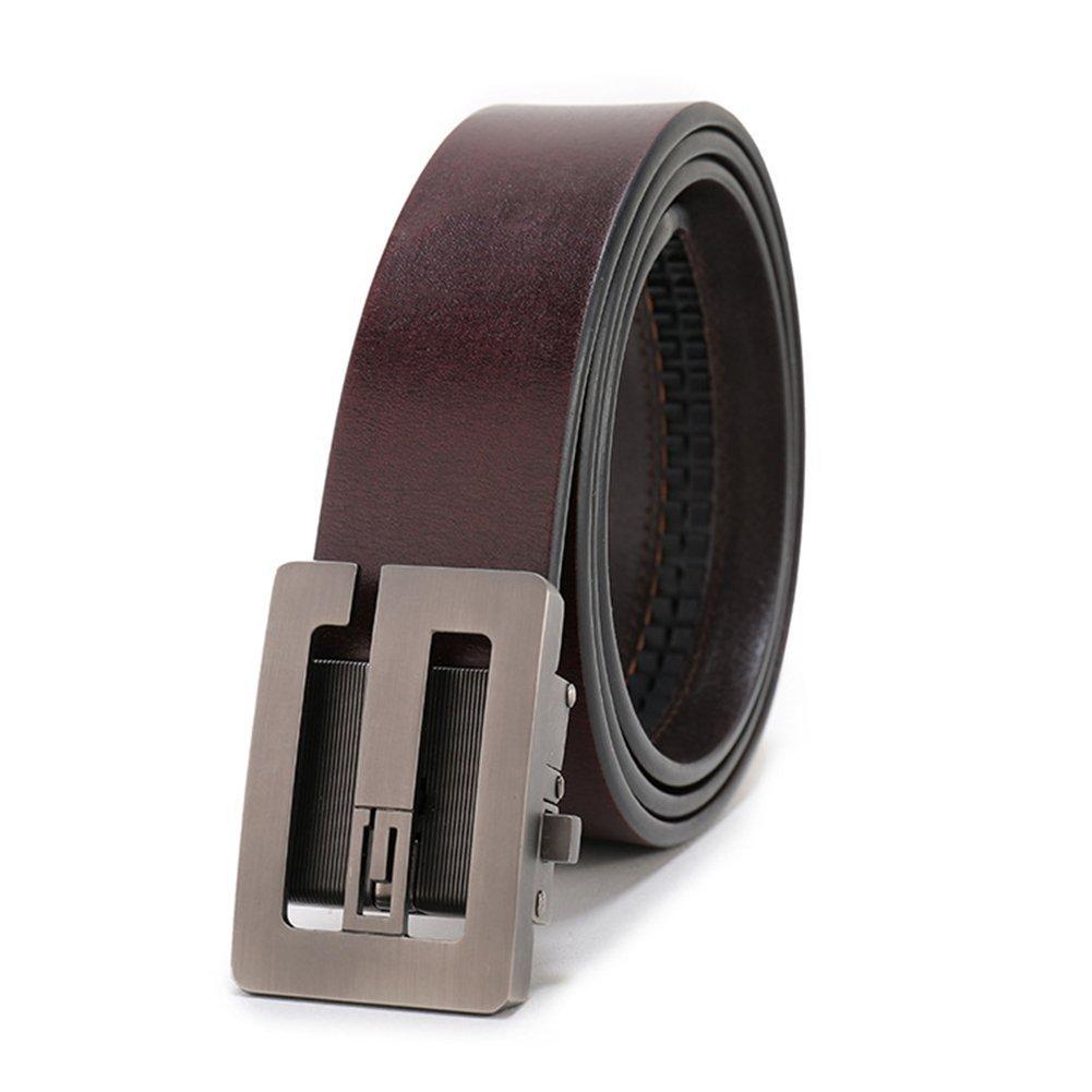 XUEXUE Mens Belt Leather Automatic Buckle Belt,Work Active Basic Leather,Casual Formal Belts,Business Belt,Cowboy Wear /& Work Clothes Uniforms,A,110