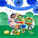 Super Why Childrens Birthday Party Supplies - Tableware and Decoration Pack (16)