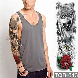Modeganqing 3 Tatuaje de Brazo Grande tótem Pegatinas de Tatuaje a ...
