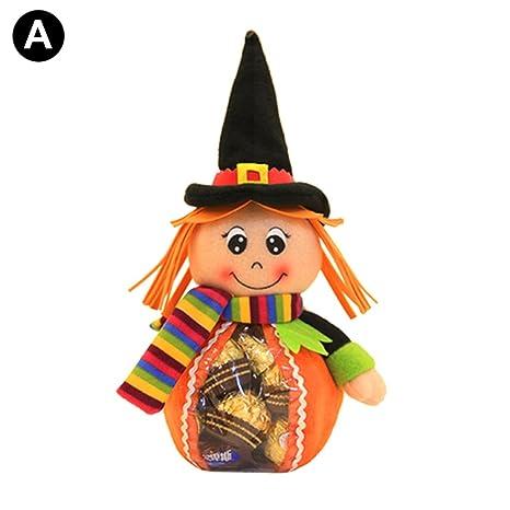 ROKOO Bolsas de Dulces de plástico de Halloween Muñecas Fiesta de cumpleaños favorece la decoración del