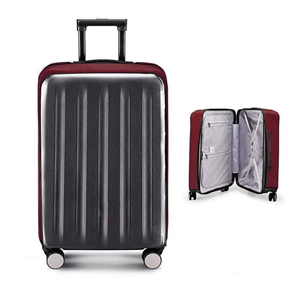 Travel Luggage Cover Suitcase Protector 20'' 22'' 24'' 26'' 28'' 30'' Elastic Cloth+Clear PVC (26'')