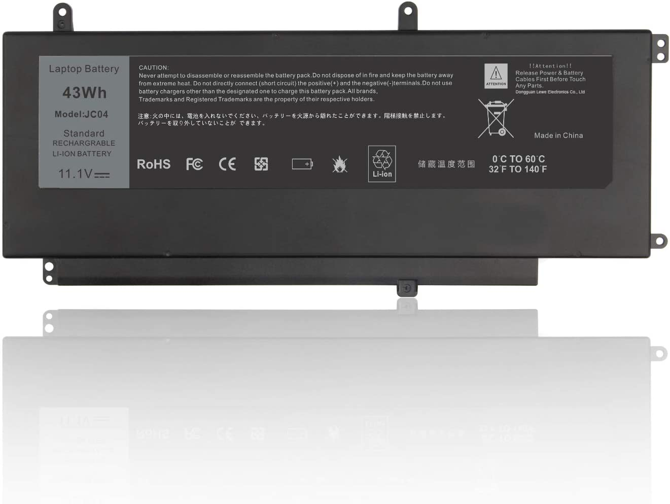 D2VF9 Laptop Battery Replacement for Dell Inspiron 15 7547 7548 0PXR51 PXR51