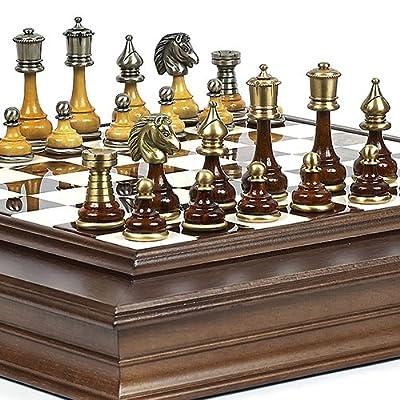 Bello Collezioni - Bello Italiano Chessmen & Alabastro Chess/Board Cabinet from Italy