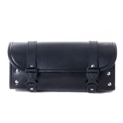 Motorcycle Bags, Saddlebags with Leather Shell, Black Handlebar Bag: Automotive
