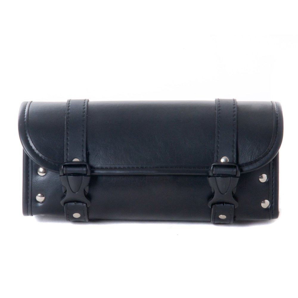 ElaineStore Motorcycle Bags, Saddlebags with Leather Shell, Black by Elaine'Store