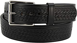 """product image for Max Thickness Basket Weave Embossed Gun Belt CCW –1.75"""" Extra Wide - Made in USA"""