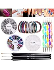 Vaga Professional Nail Art Decorations Tools Kit (6 Items)
