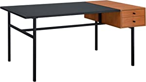 Acme Furniture Oaken Desk, Honey Oak & Black