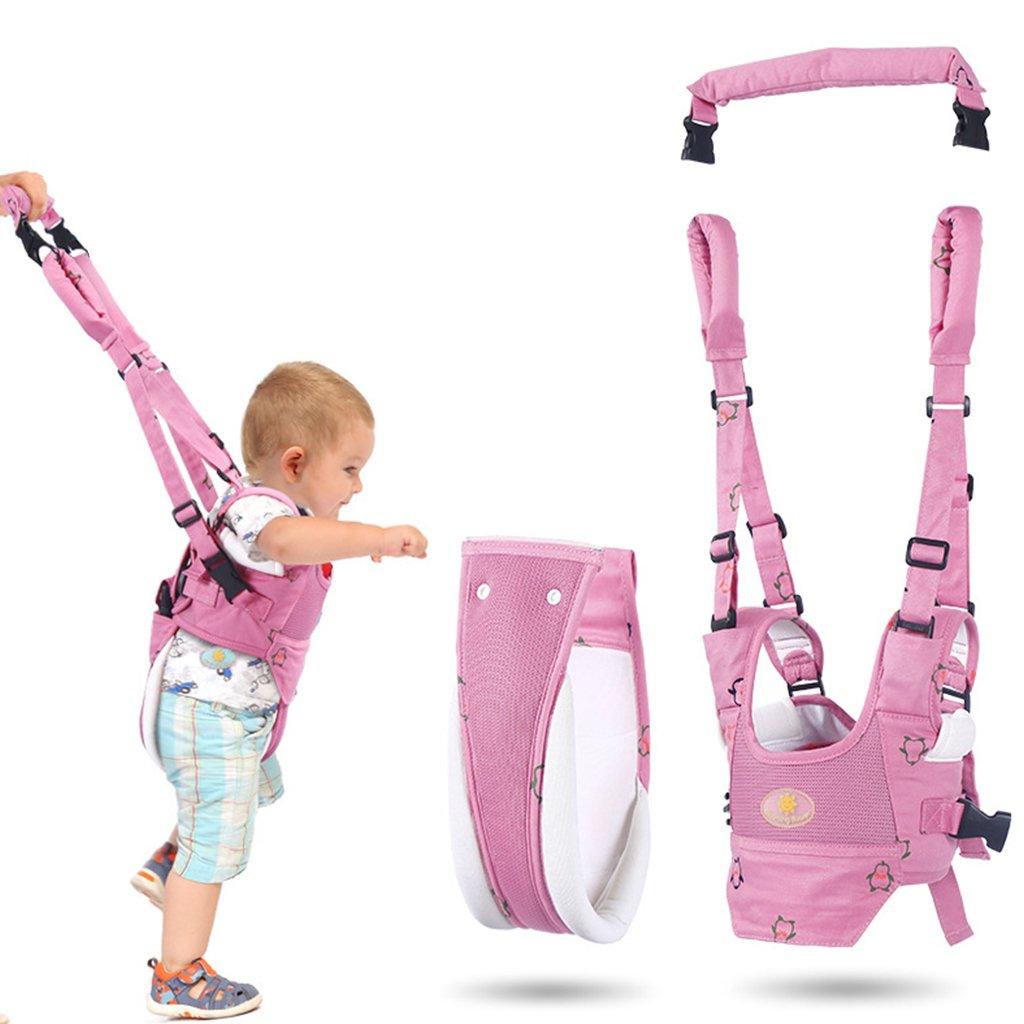 Bebé Caminar Arnés, Seguridad Asistente Niños Andador Anti Perdido Correa Proposito Doble,Rosa