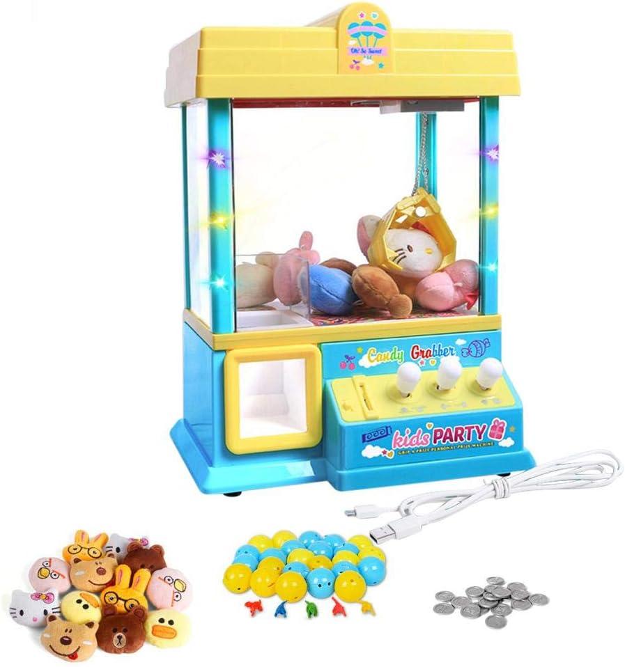 Urben Life Mini Juguetes Garra Máquina De Juego, Juguete Candy Doll Dispenser Crane Toy con Luces LED E Interruptor De Sonido Ajustable