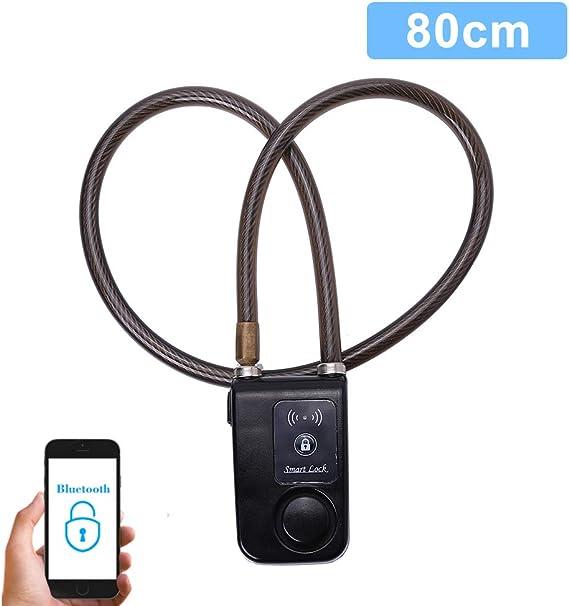 Cerradura Inteligente para Bicicletas Bluetooth Cadena Antirrobo con Alarma 110dB para IOS y Android (Color : Negro) : Amazon.es: Deportes y aire libre