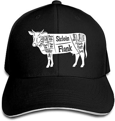 Gorra de béisbol para Hombres y Mujeres Ganadería de Carne Corte ...