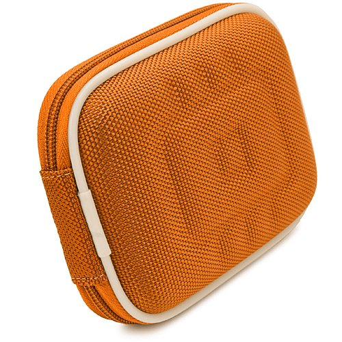 Orange Nylon Mini Hard Shell Lightweight Zipper Compact Carrying Protector Case For Canon PowerShot Series Point & Shoot Digital Cameras