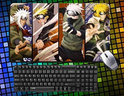 Naruto large mouse pad Uzumaki Naruto mousepad Hatake Kakashi Desk & Mouse Pad Uchiha Sasuke Table Play Mat (01) (Desk Mat Naruto)