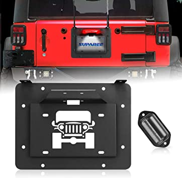 MFC Tailgate Vent-Plate Cover Spare Tire Delete Plate /& Tailgate Body Plugs for Jeep Wrangler JK JKU 2007-2017