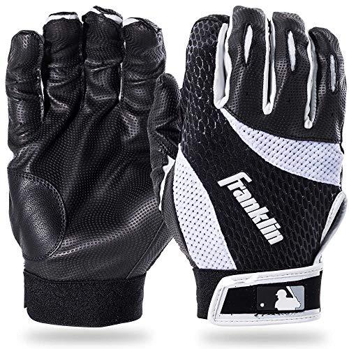 Franklin Sports 2nd-Skinz Batting Gloves Black/White Adult