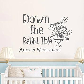 Alice Im Wunderland Mauer Aufkleber Applikator Ist Der Hase