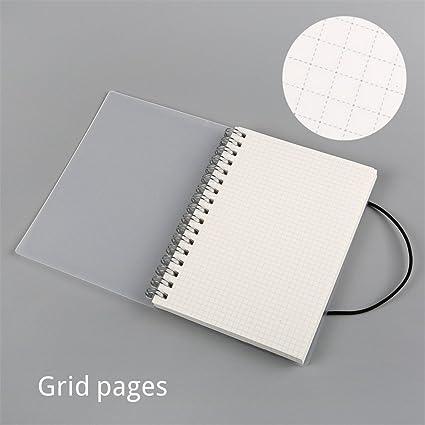 Amazon.com: A5 A6 libreta de espiral bobina cuaderno forrado ...