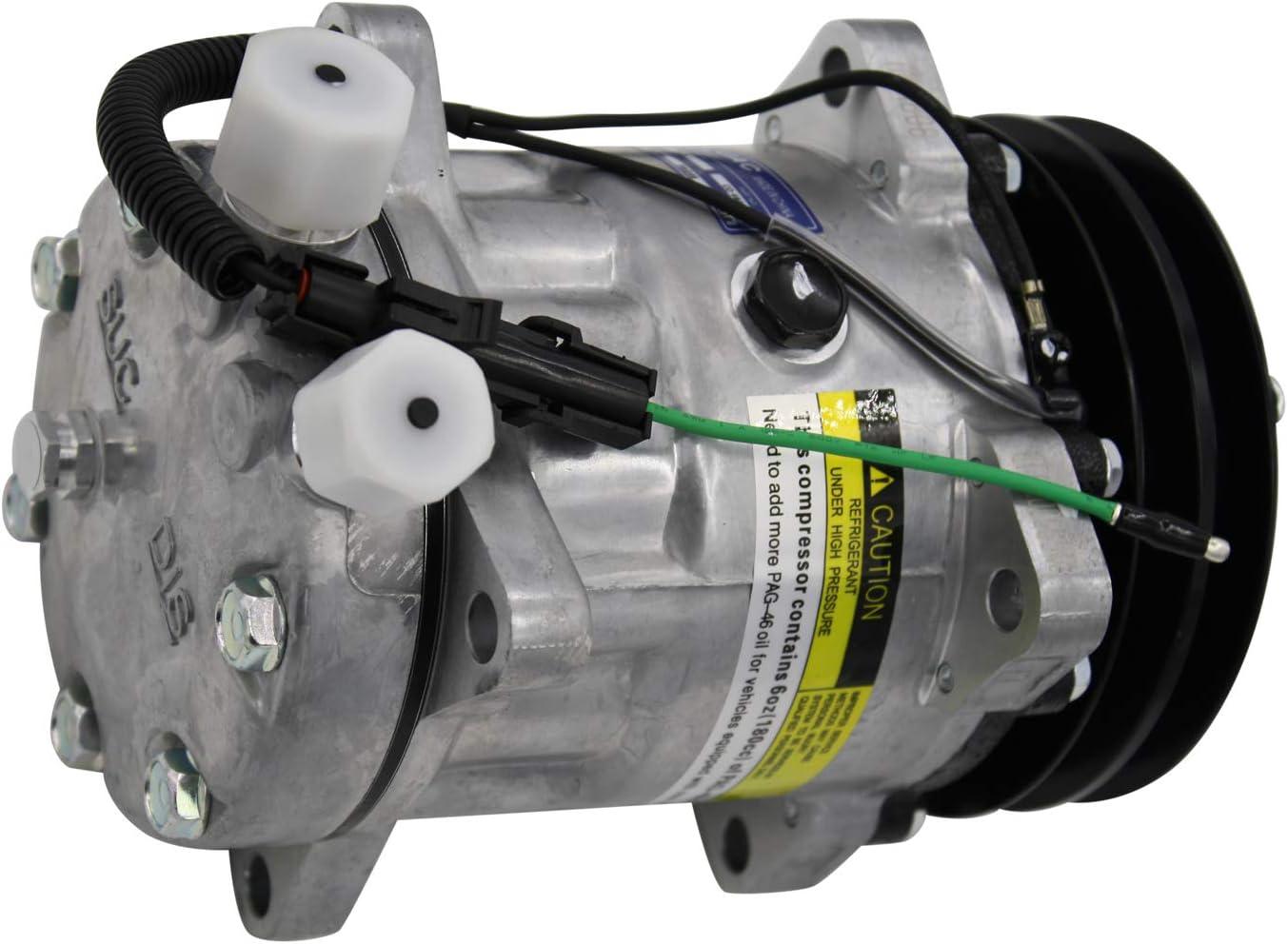 Mack Peterbilt Sanden Type 4647 4654 4644 4664 8104 AC Compressor