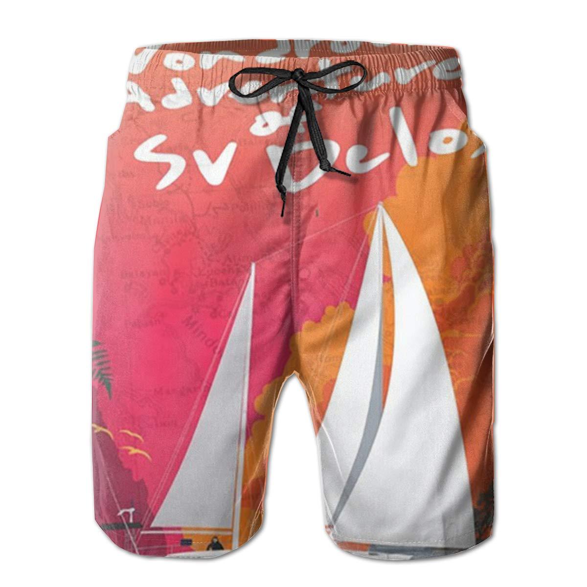 EYFlife Adventures of Sv Dclos Men/â/€s Beach Board Shorts Quick Dry Swim Truck Shorts