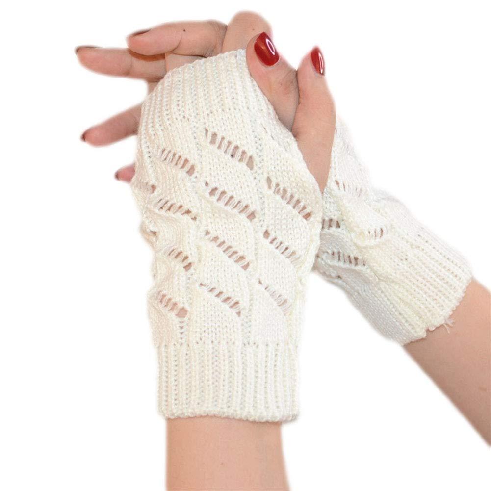 Vi.yo Medio dedo sin dedos Agujero del pulgar Guantes cálidos ...