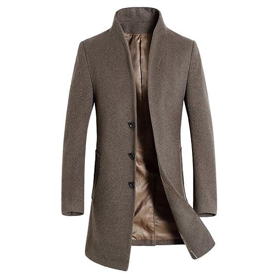 iBaste Herren Wollmantel Elegante Wintermantel Winterjacke Winter Herbst Jacket Herren Mantel Jacke Männer Parka Trenchcoat Stehkragen