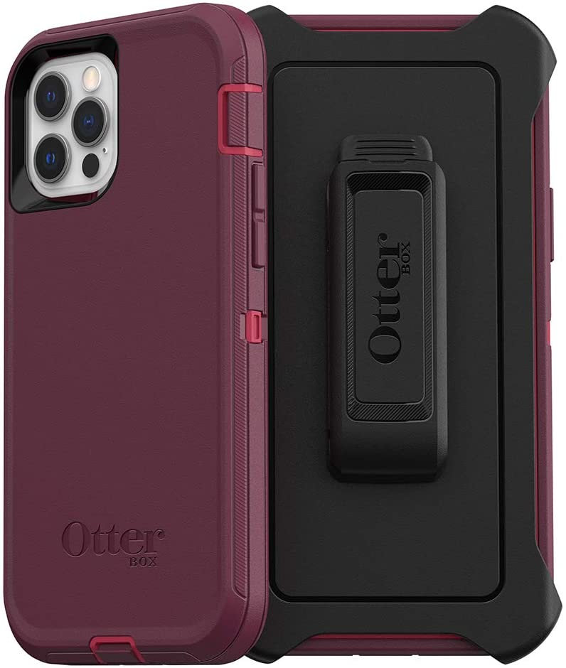 OtterBox Defender Series SCREENLESS Edition Case for iPhone 12 & iPhone 12 Pro - Berry Potion (Raspberry Wine/Boysenberry)