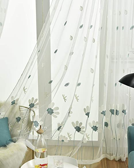 Custom Curtain Pair Panels White Sheer Tricolor Wheat Pattern Embroidery Fashion Simple Bedroom Living Room Study Dining Room Curtain