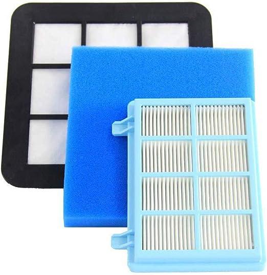 Kit de filtros de repuesto para aspiradoras Philips FC9331/09 FC9332/09 FC8010/01 Power Pro Compact: Amazon.es: Hogar