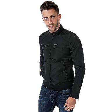 c80833fa644a Diesel Veste Jeffir-R Biker Noir Homme  Amazon.fr  Vêtements et ...