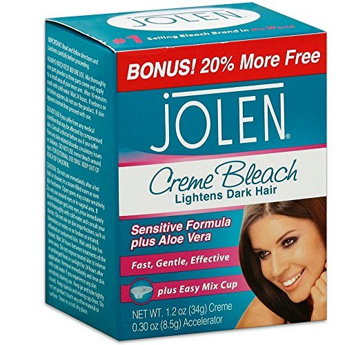 Jolen Creme Bleach Mild Formula Plus Aloe Vera 1/4 oz (Pack of 4)