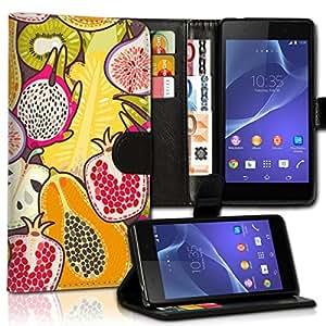 Wallet Wicostar–Funda Case Funda Carcasa diseño Funda para Sony Xperia Z1Compact–Diseño Flip mvd134