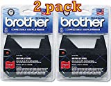 Value pack of 2 Brother 1030 Ribbon Cartridge, yields up to 50,000 characters each,