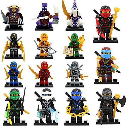 gonggamtop 15 Pcs/Lot Ninja Ninjago Action figures Building Blocks Toys Juguetes Sets (Nindroid Costume)