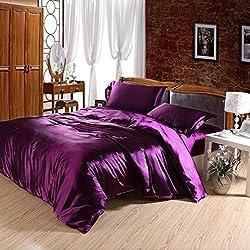 Joybuy Purple Bed Set Bedding Set Bed Linen Silk Bedclothes Bedspread/bed Sheet /Duvet Cover