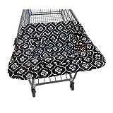 JJ Cole Shopping Cart Cover, Black Floret