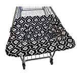 JJ Cole Shopping Cart Cover, Black Floret