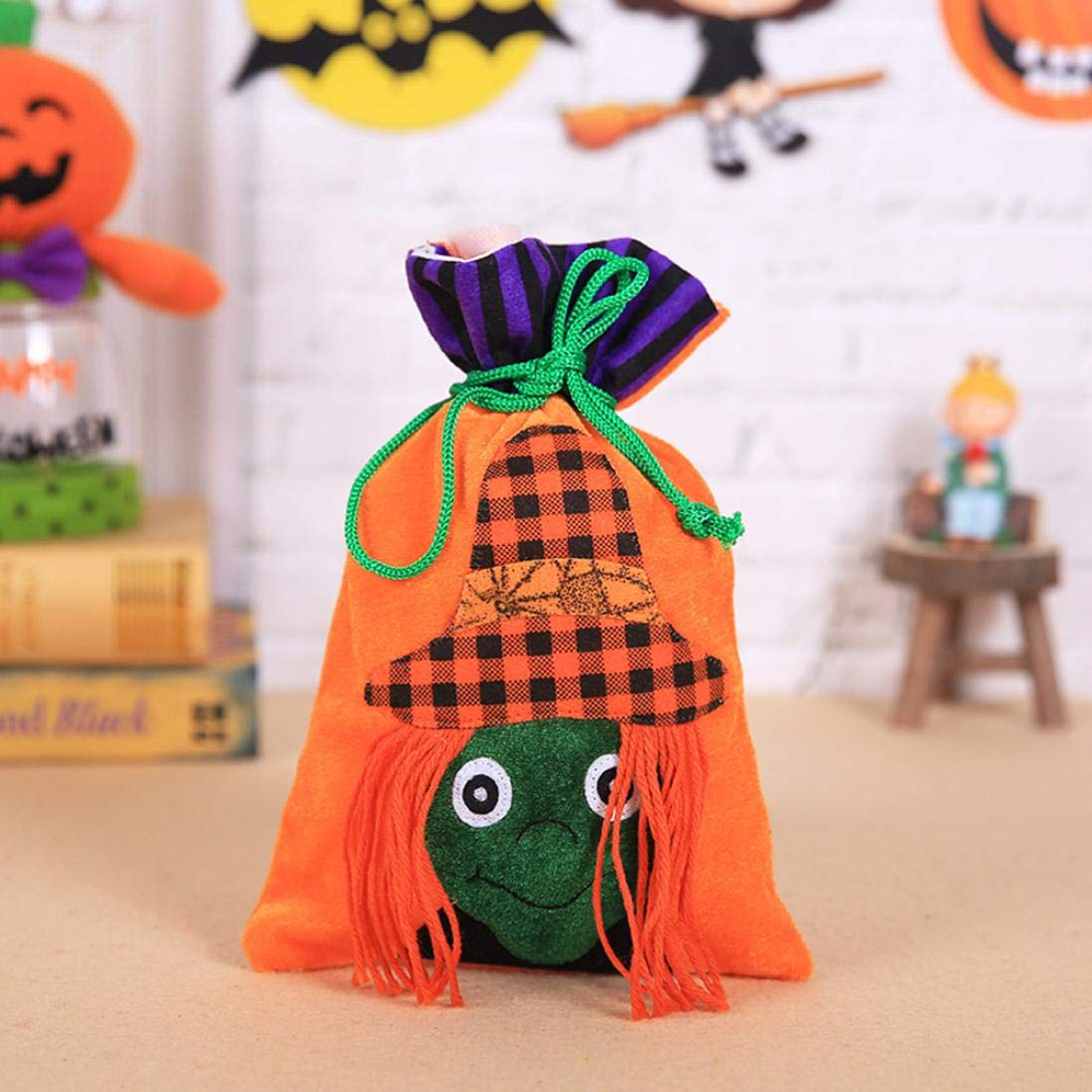 Gaddrt Cute Witches Candy Bag Halloween Packaging Great for Children Party Storage Bag Gift (E)