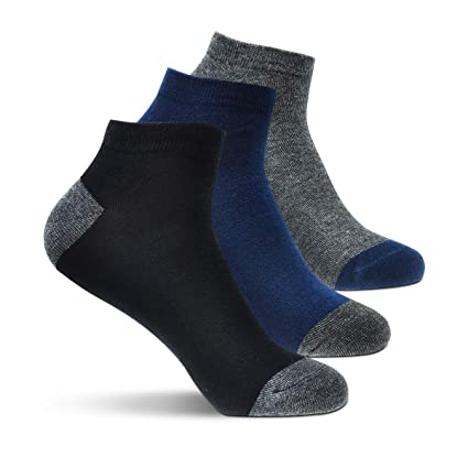 Okiss Men's Cotton Socks Colorful Casual Crew Stripe Solid Socks - Pack of 3/5