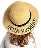 Funky Junque Girls Sun Hat Bold Cursive Embroidered...