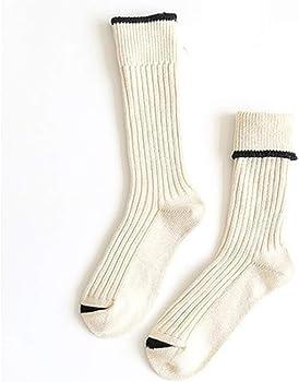 Calcetines largos y gruesos para mujer, de algodón, color liso ...