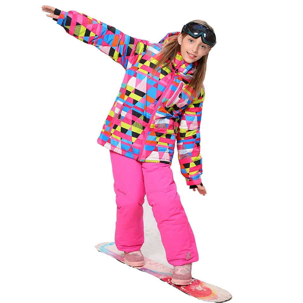 Wonny Girls Ski Jacket Pants Kids Waterproof Winter Skisuit SK0006