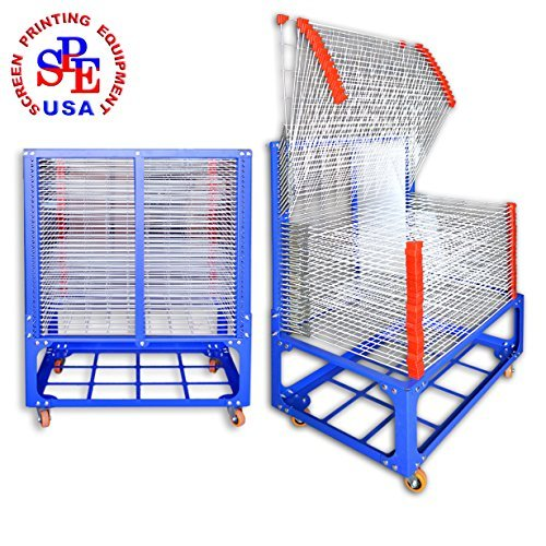 36 layers Screen Printing Drying Rack with Wheels Movable Na