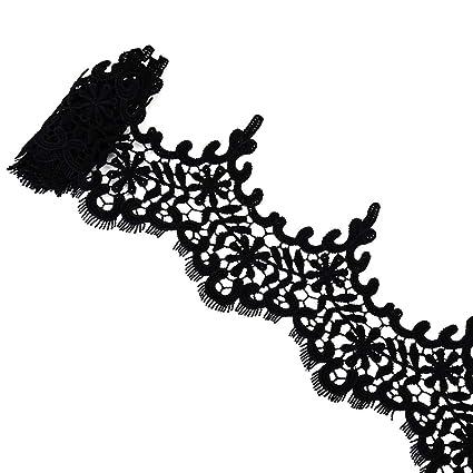 VU100 Lace Trim vestido de novia flor borla ojales tela para coser DIY Craft para boda