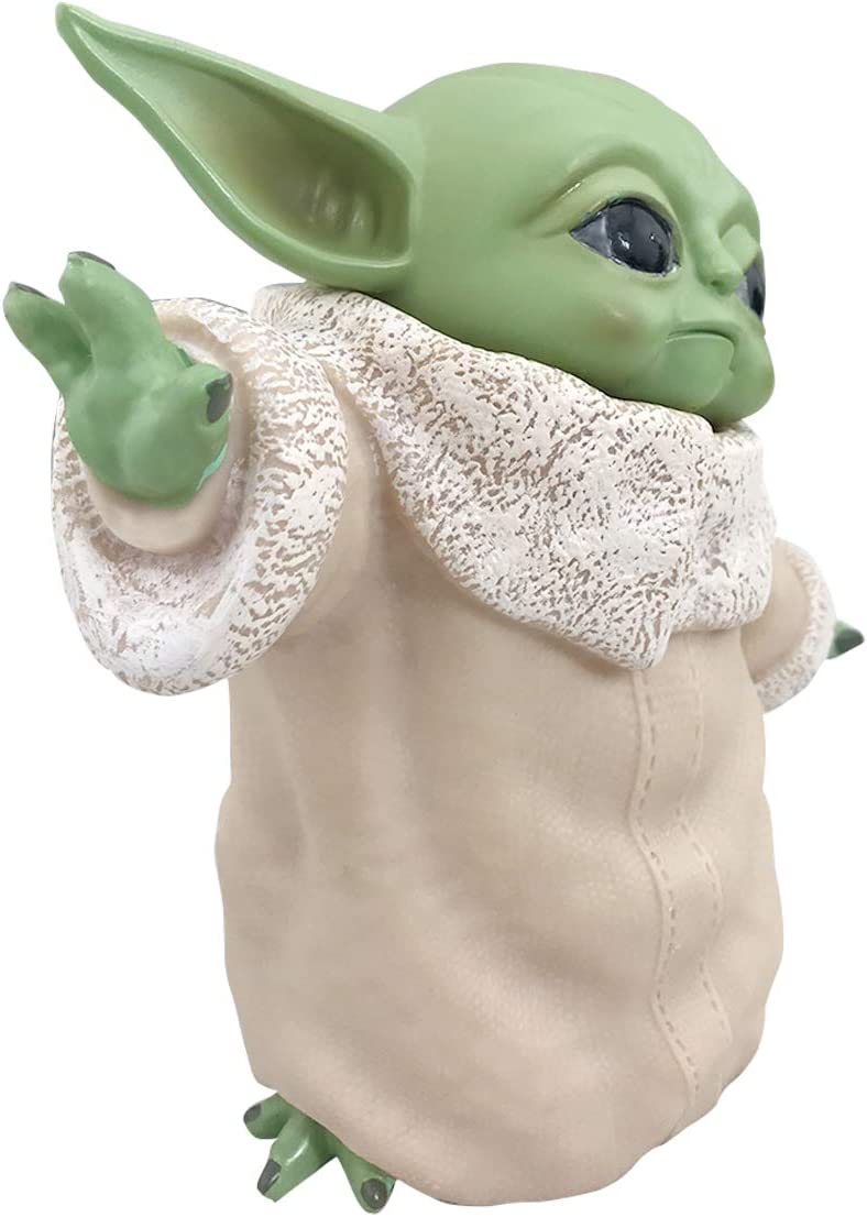 Haho Baby Yoda Toy Collection with Necklace The Child Yoda Replica Collection Toy from The Mandalorian Birthday Gifts for Kids