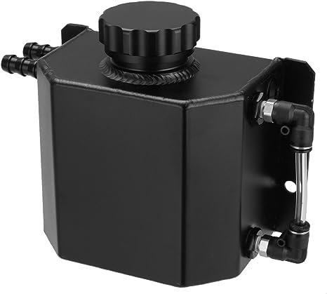 Black Cylinder Radiator Overflow Reservoir Coolant Tank Honda Acura Toyota Mazda